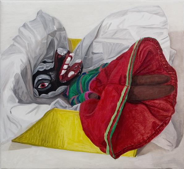 Jacqui Stockdale  The Present, 2008  Oil on linen 56 x 61cm