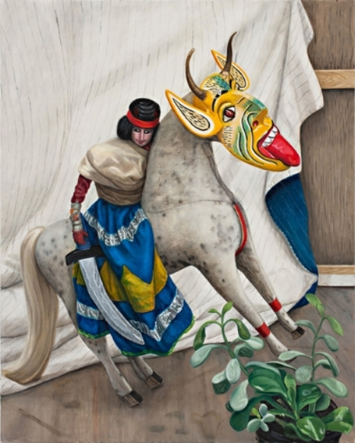 Jacqui Stockdale  Bandit Queen on Horseback, 2011  Oil on linen 152 x 122cm