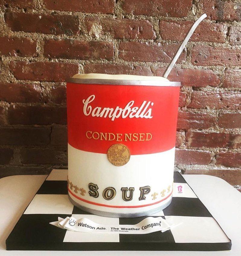campbells soup shaped cake