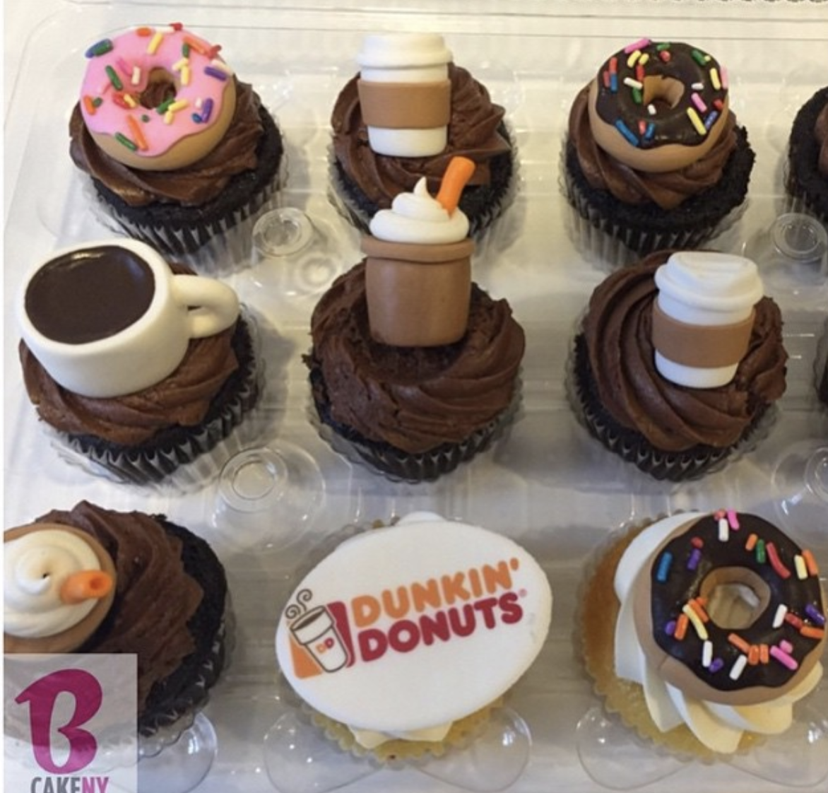 dunkin donuts theme cupcakes