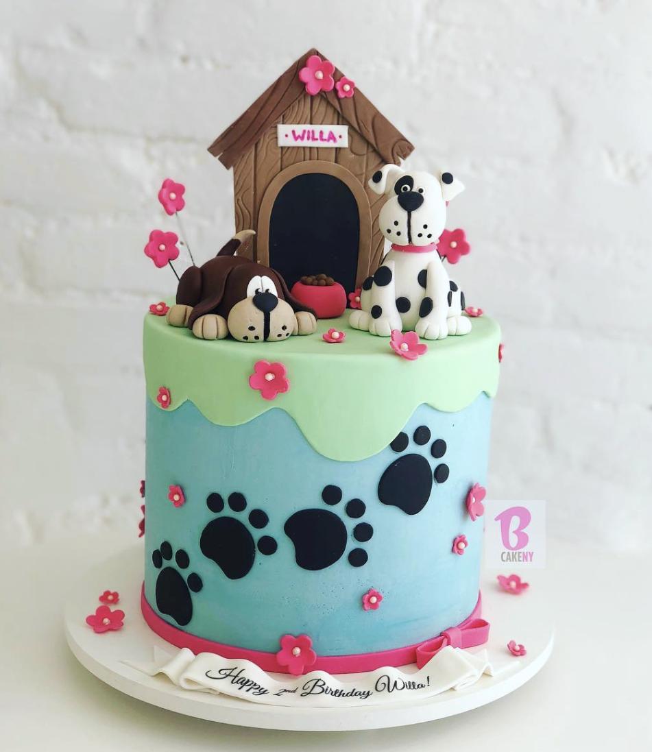 puppy theme cake 1 tier