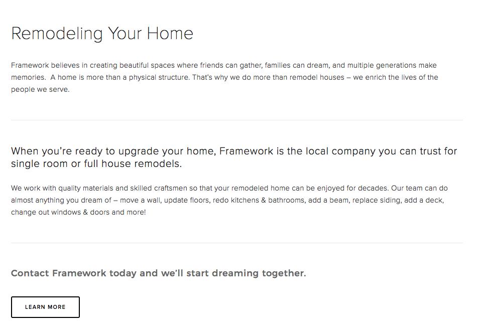 Framework-Remodeling-Services-Screenshot
