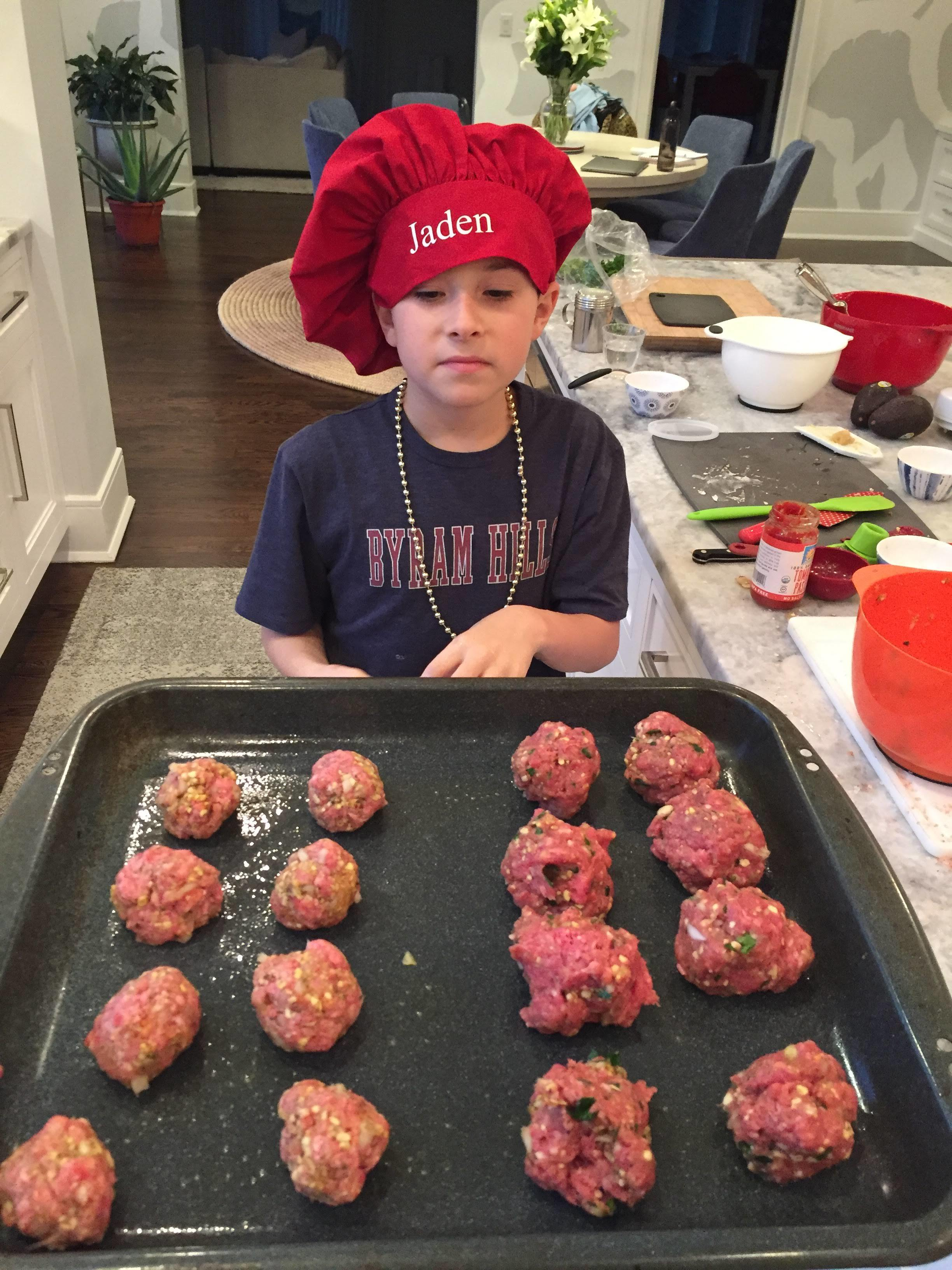 My students also love making meatballs!