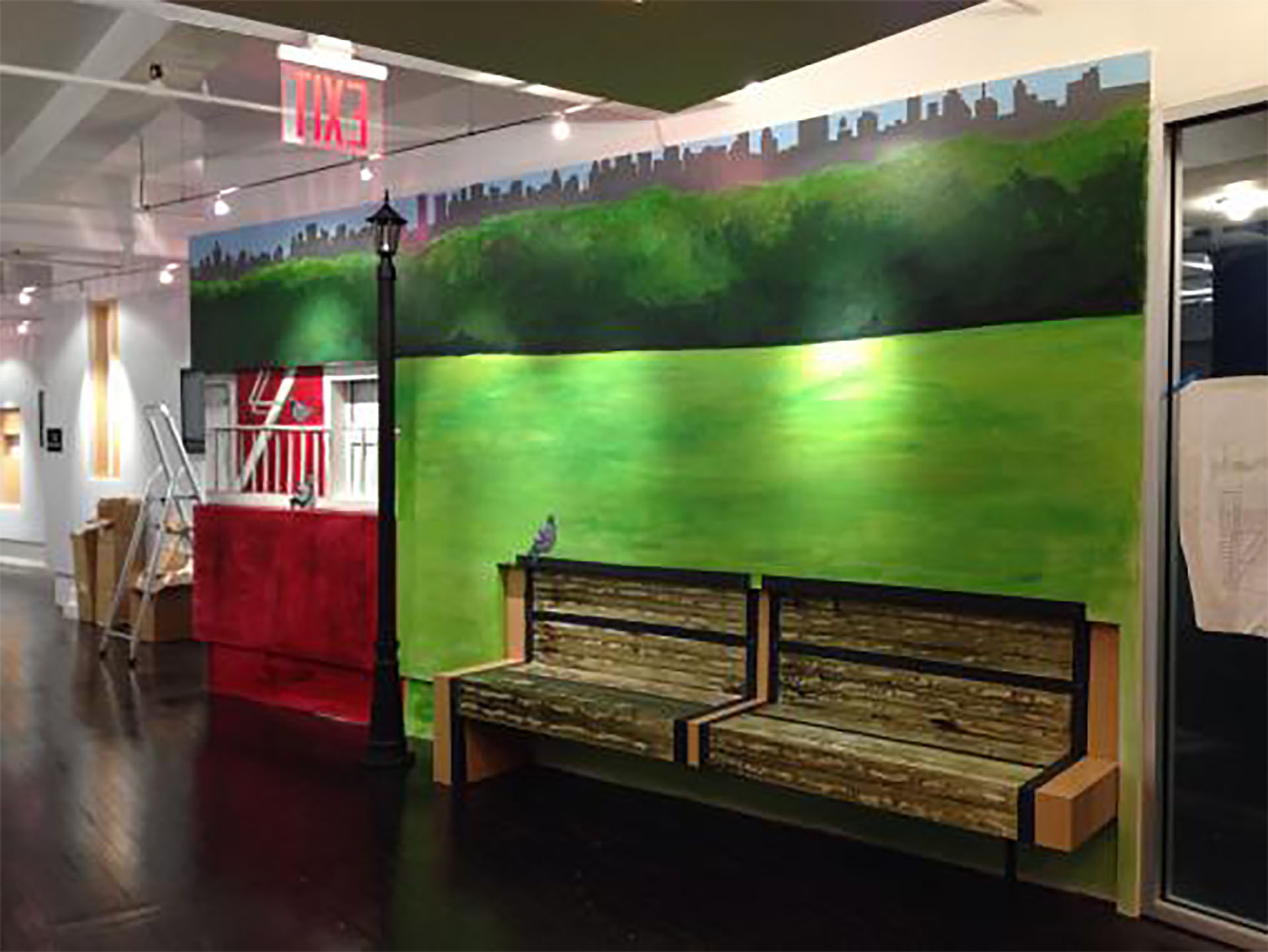Office mural in Union Square, NYC.