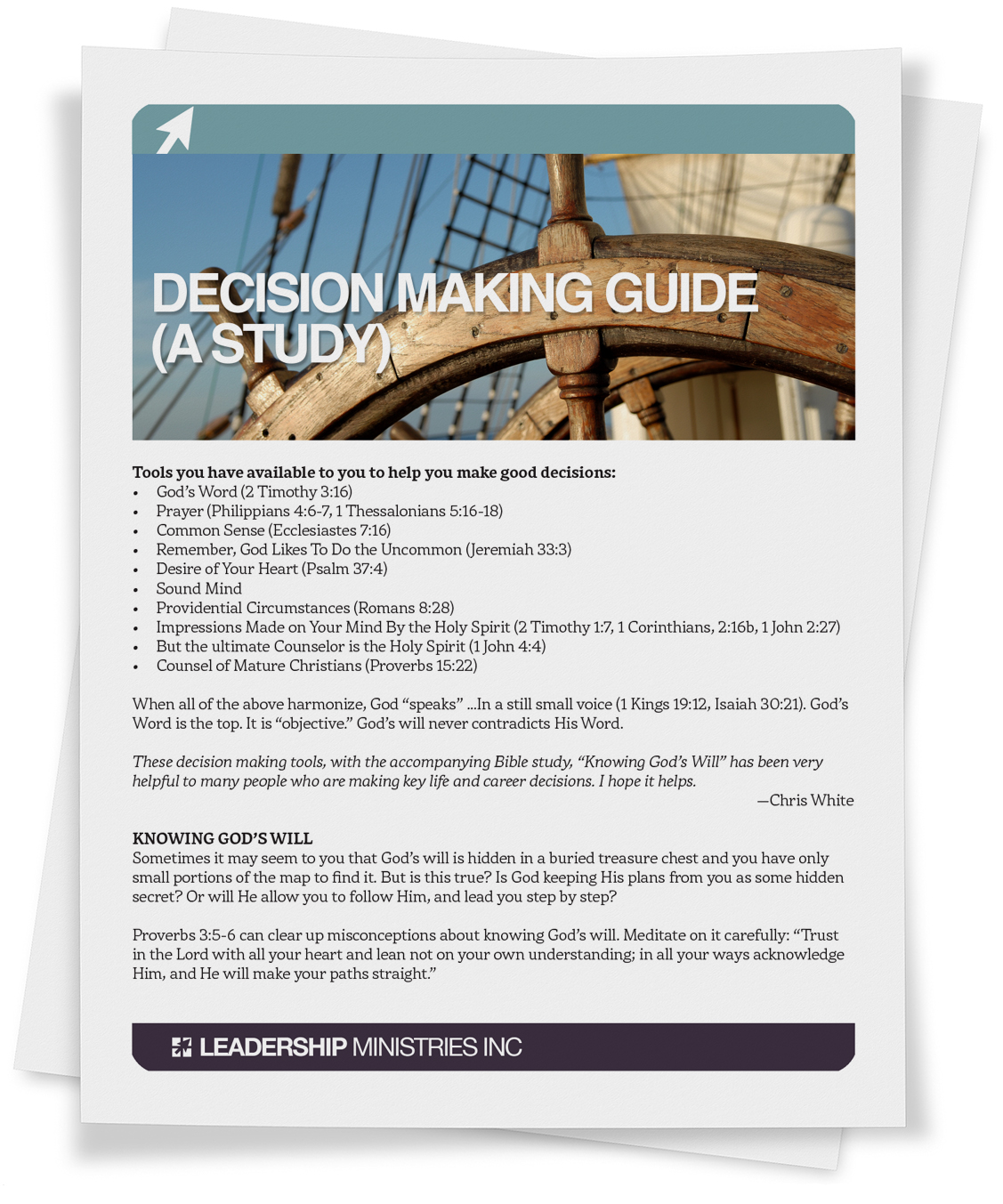 Decision Making Guide (A Study)