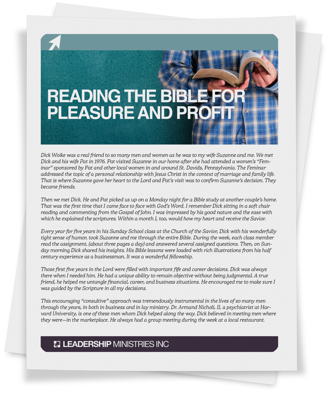 Reading the Bible for Pleasure and Profit