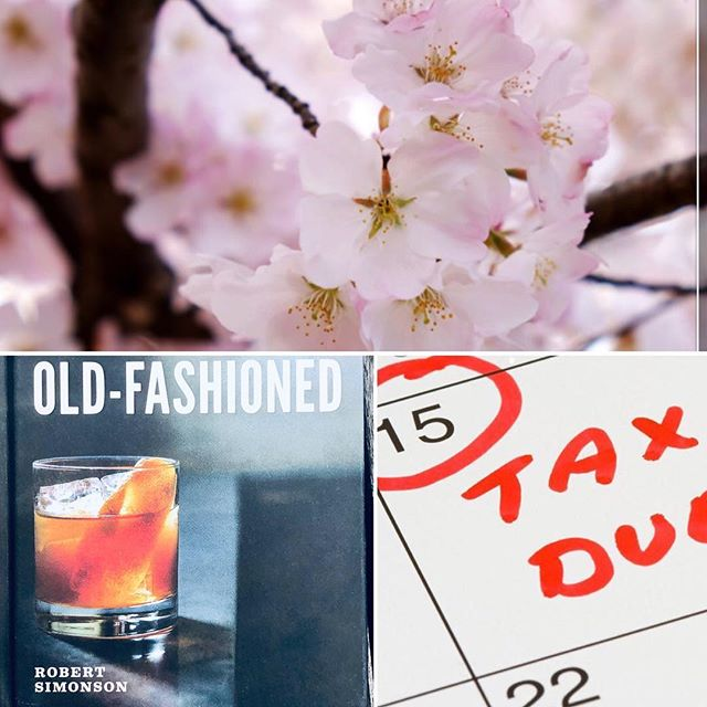 "Cherry blossoms, Taxes & Old Fashioneds.  Ive long had a tradition of cherry blossoms & drinks April 16, the day after tax day. It started when a (then new) friend & I were adjusting to life with babies many moons ago. I hadn't yet figured out the working mom thing or even the mom thing, or let's face it, the Full-on adult thing. But spring came, the Sakura trees bloomed gloriously, taxes got filed & we took ourselves & our babies for pizza & drinks. Now almost 20 years later, those babies are headed to college. I've had a few work lives since then — & bunch more kids. And Im till not sure what I'm doing. .🌸 💃🏻 🤱🏻 But taxes are still due April 15 & the cherry blossoms still bloom. So on April 16 I will take my expanded crew for pizza after they check out the cherry blossoms while I'm teaching. Then I'll have 1 of the complimentary old fashioneds (is that the correct plural?) offered @116crown for anyone buying a copy of the books Robert Simonson will be signing at the event John Ginnetti & I are hosting after @robertosimonson visits our Yale Seminar ""Drink History: the Ethics & Business of Cocktails."" Yep I still have one left to buy 7 I might as well do it on the night book purchase comes w an old fashioned. .🌸 🍕 🥃 This is my way of trading a post for booze: getting  a drink at my own event. I may even bring a bottle of something from @wine_thief for @116crown owner & my fabulous co-teacher (who hates  when I use that term, thinking it sounds like we are pedagogically divorced & raising a class together). I'm such an influencer — next I will hire myself to be my own assistant! 😎 👩🏻‍🎤 🤩"
