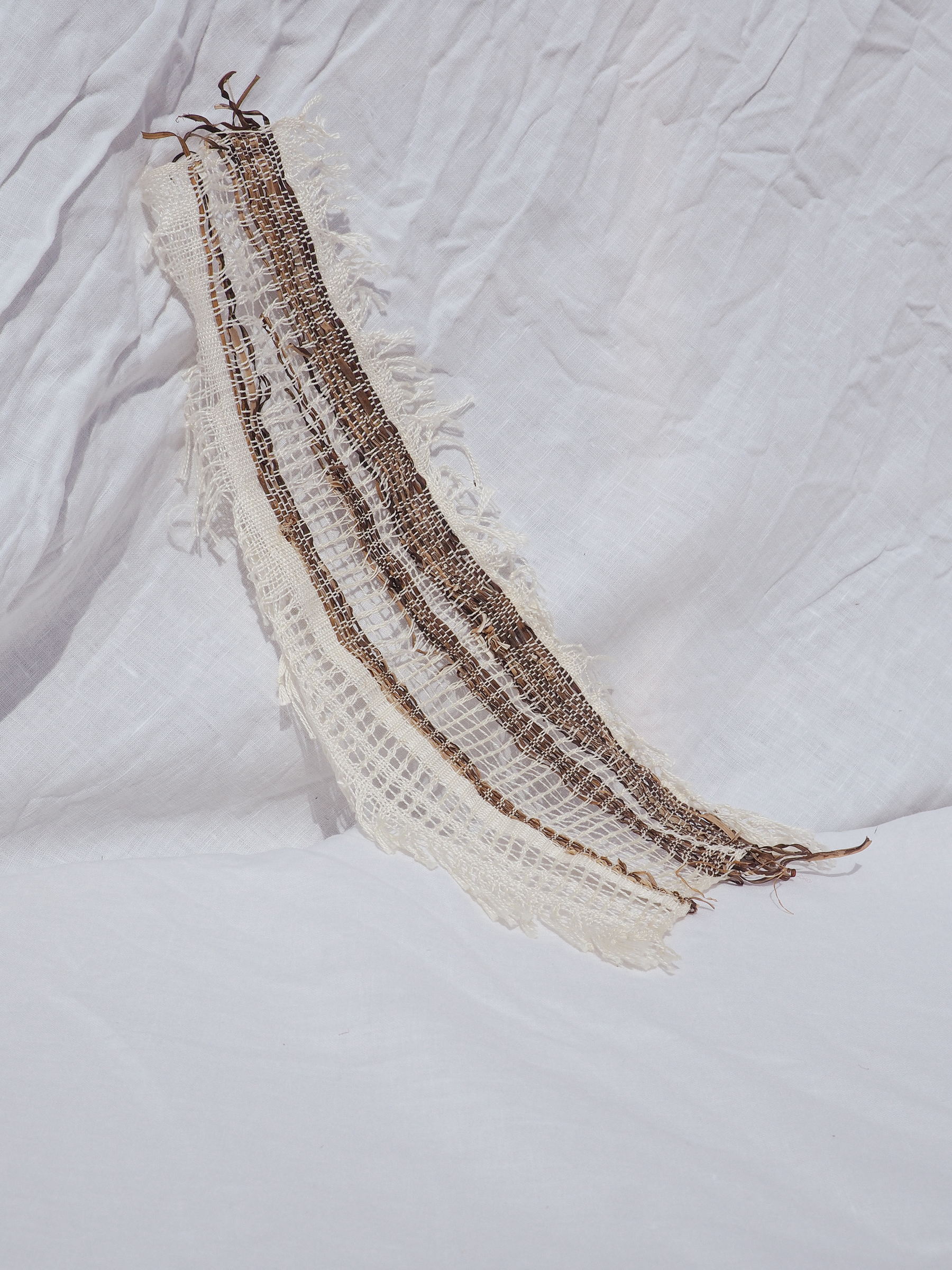 Seaweed and Silk 02, handwoven by Rachel and available on our online store.
