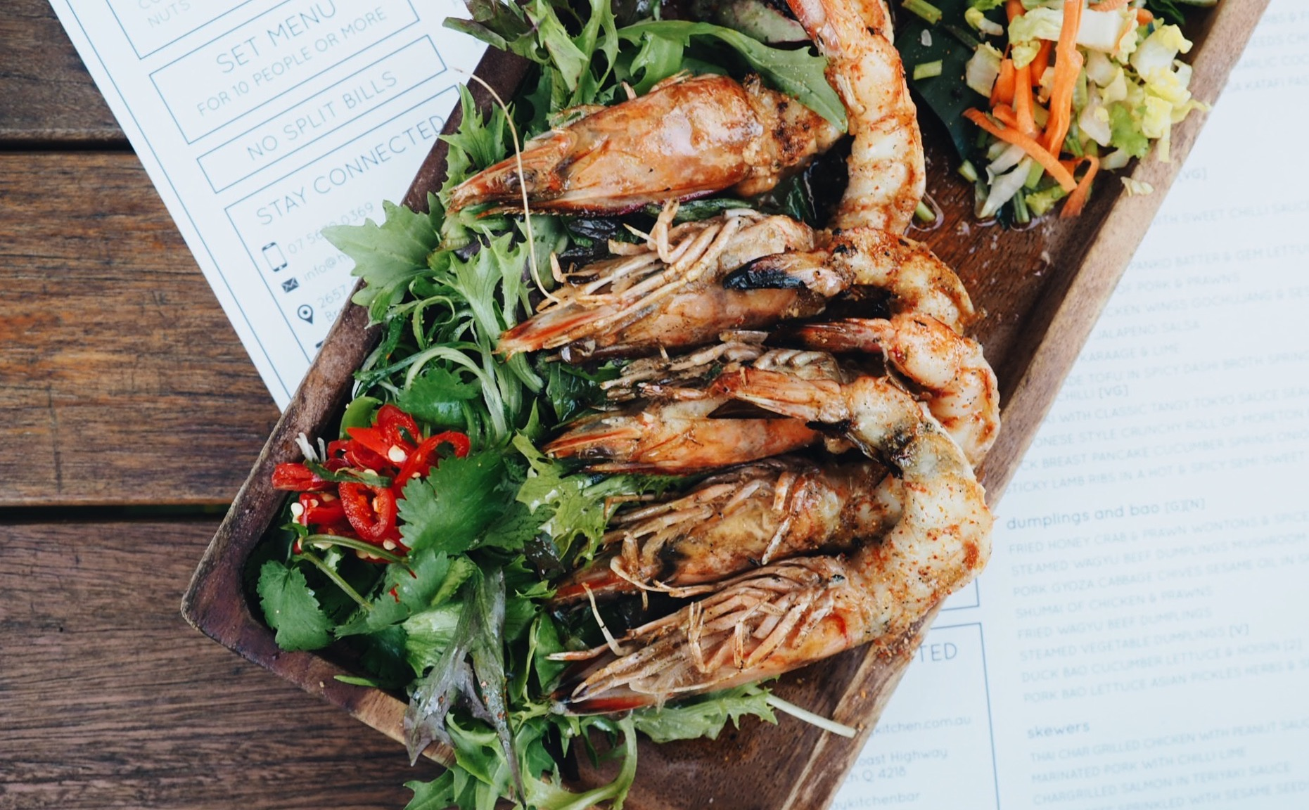 Mooloolaba Prawns in Asian herb butter Sauce .jpg