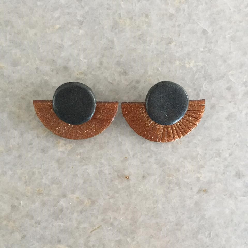 Statement Studs Collection - Materials:Polymer Clay, Surgical Steel Backings