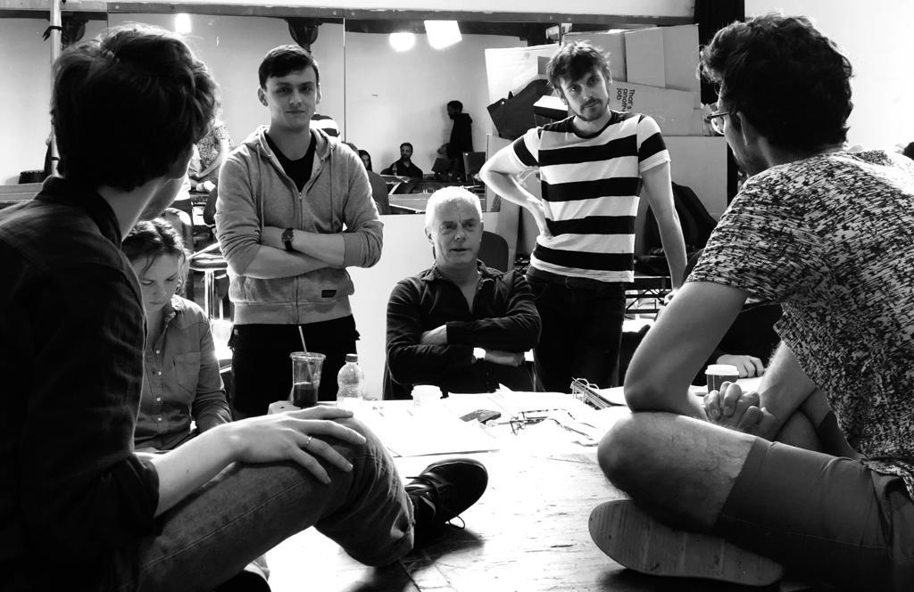 The Jungle company in rehearsals