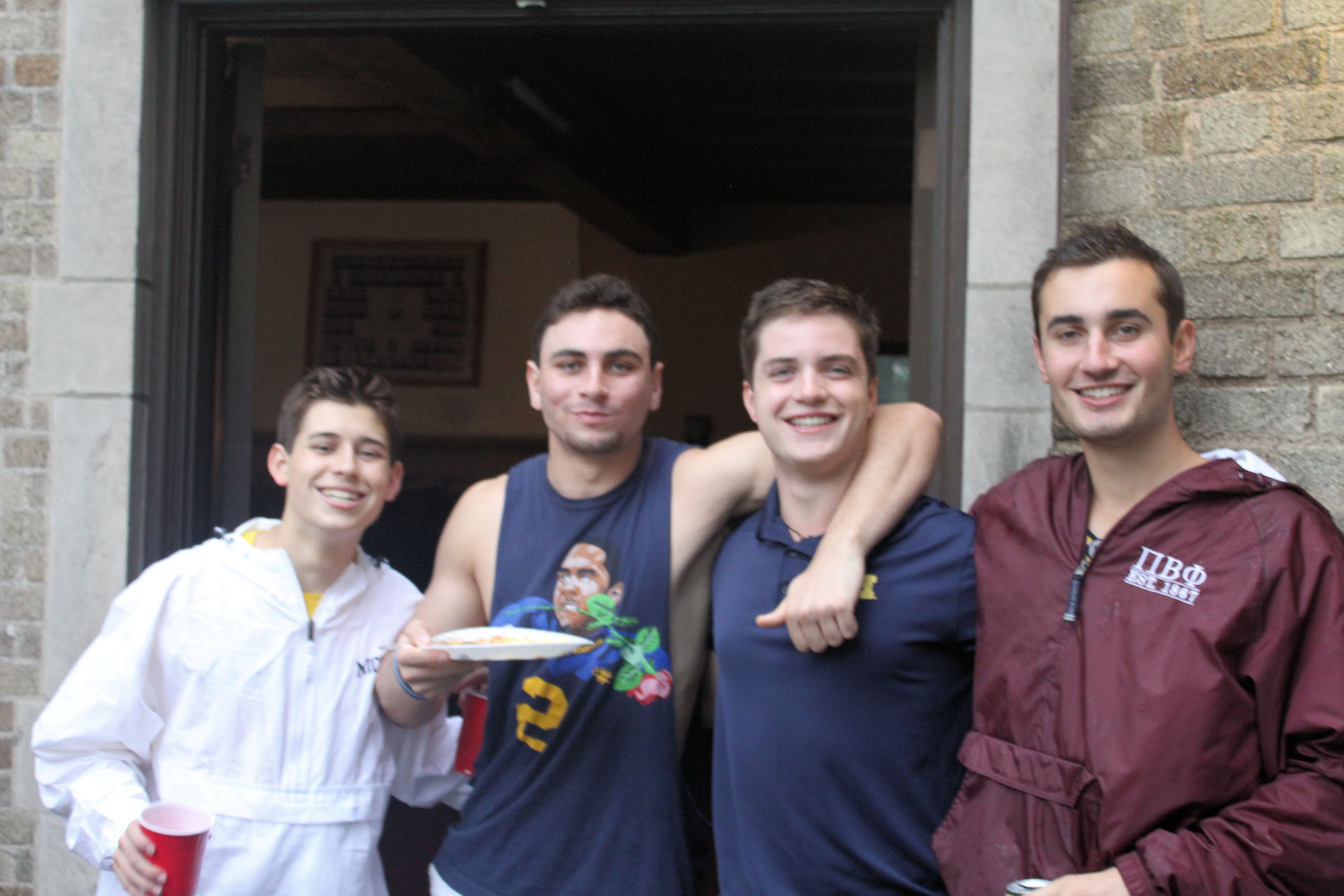 (L to R): Ari Elkins ('22), Trevor Stratz ('21), Brian Kraska ('21), Jordan Roberts ('21)