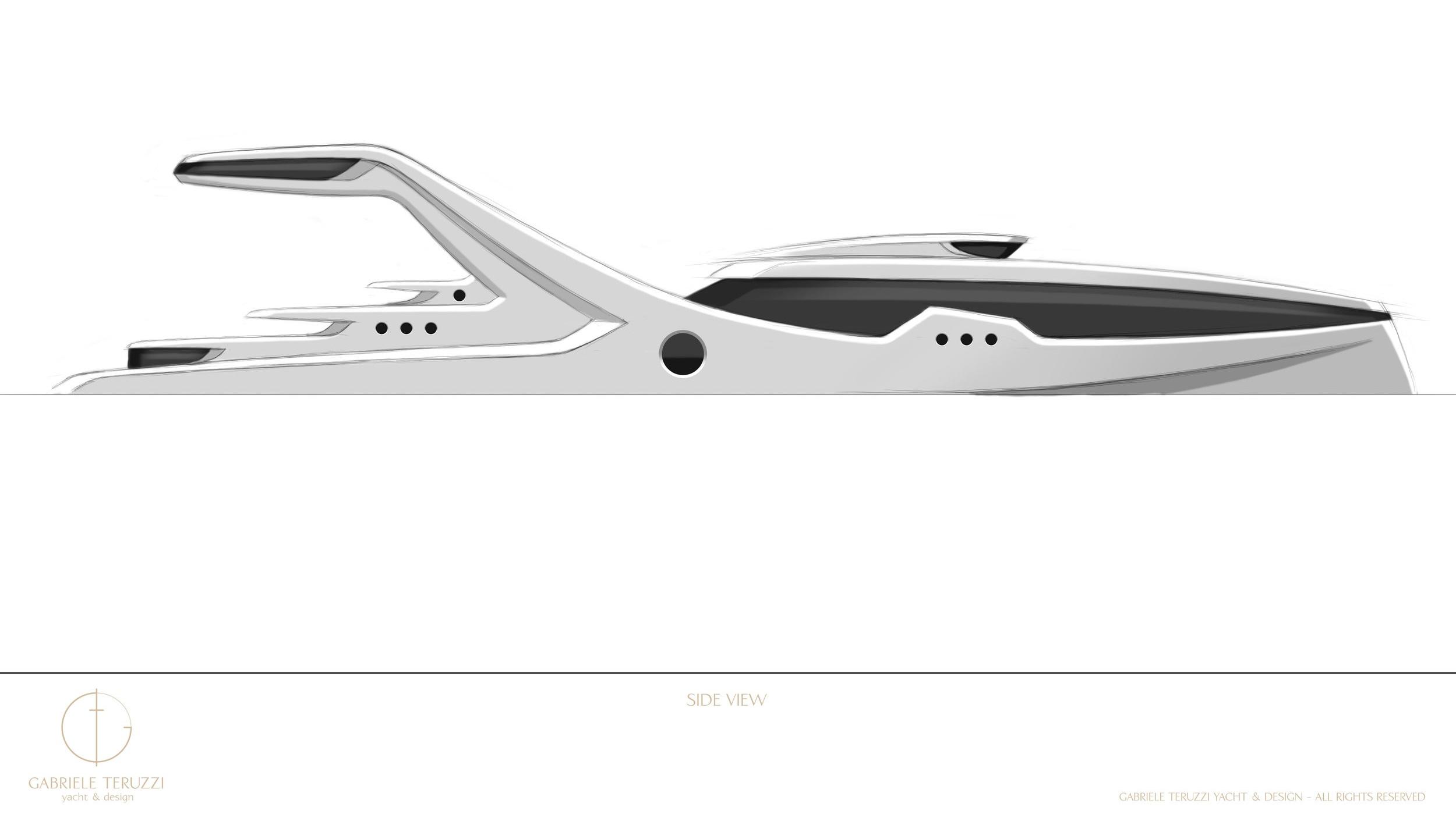 Projected chosen design of Oceanidi's E.M.P.V. by Gabriele Teruzzi.