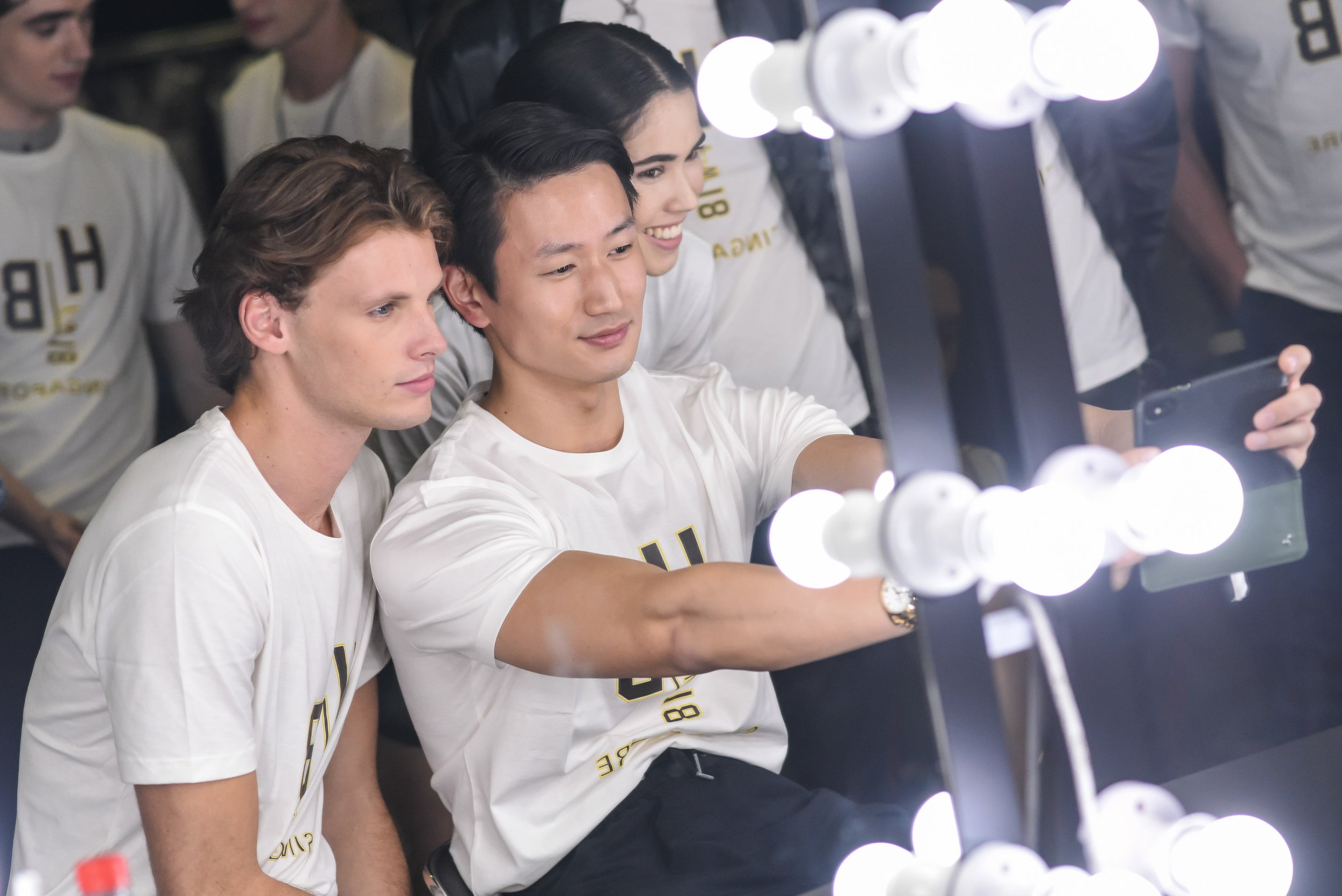 Models doing model things (Credit: Hugo Boss/@boss)
