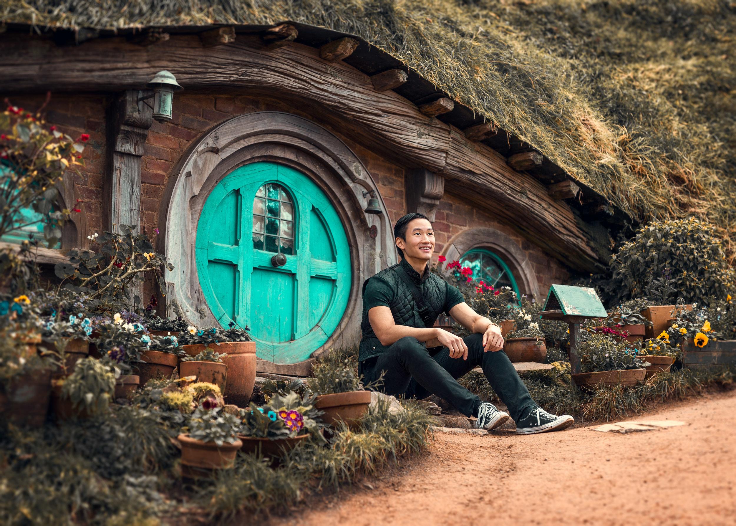 Doctor Ian in Hobbiton, Shire