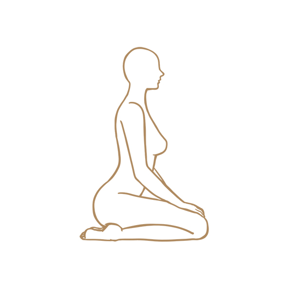 sitting and breathing into the spinal centres…