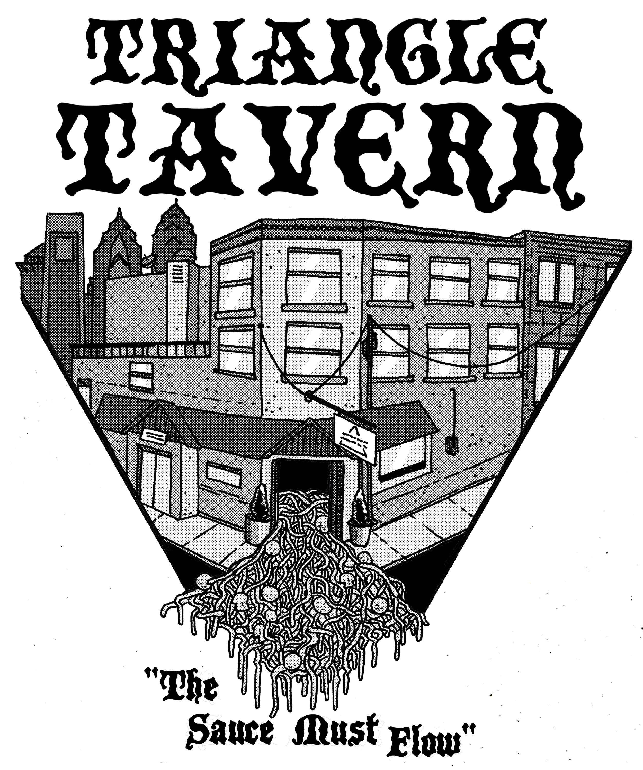 Shirt design for Triangle Tavern