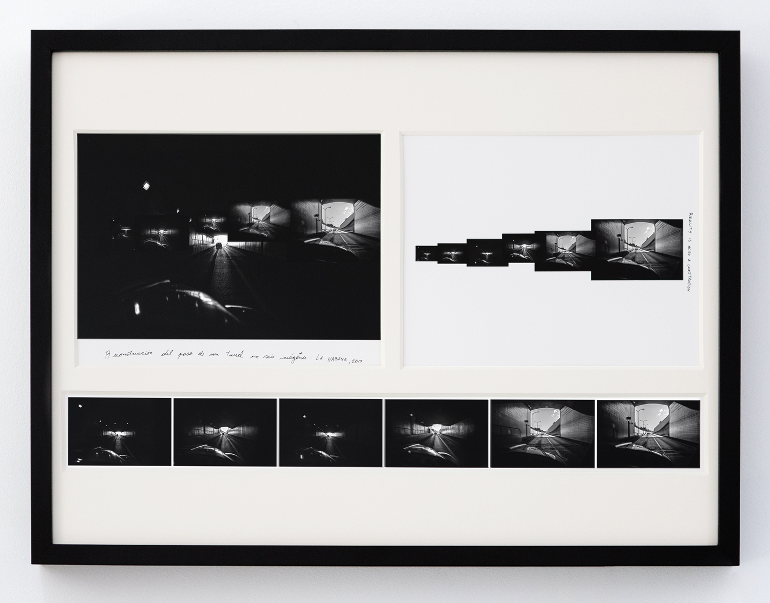 Tunnel in Six Images , 2017 Archival cotton print with museum glass 24 x 18 inches Edition 1 of 7, 2 AP