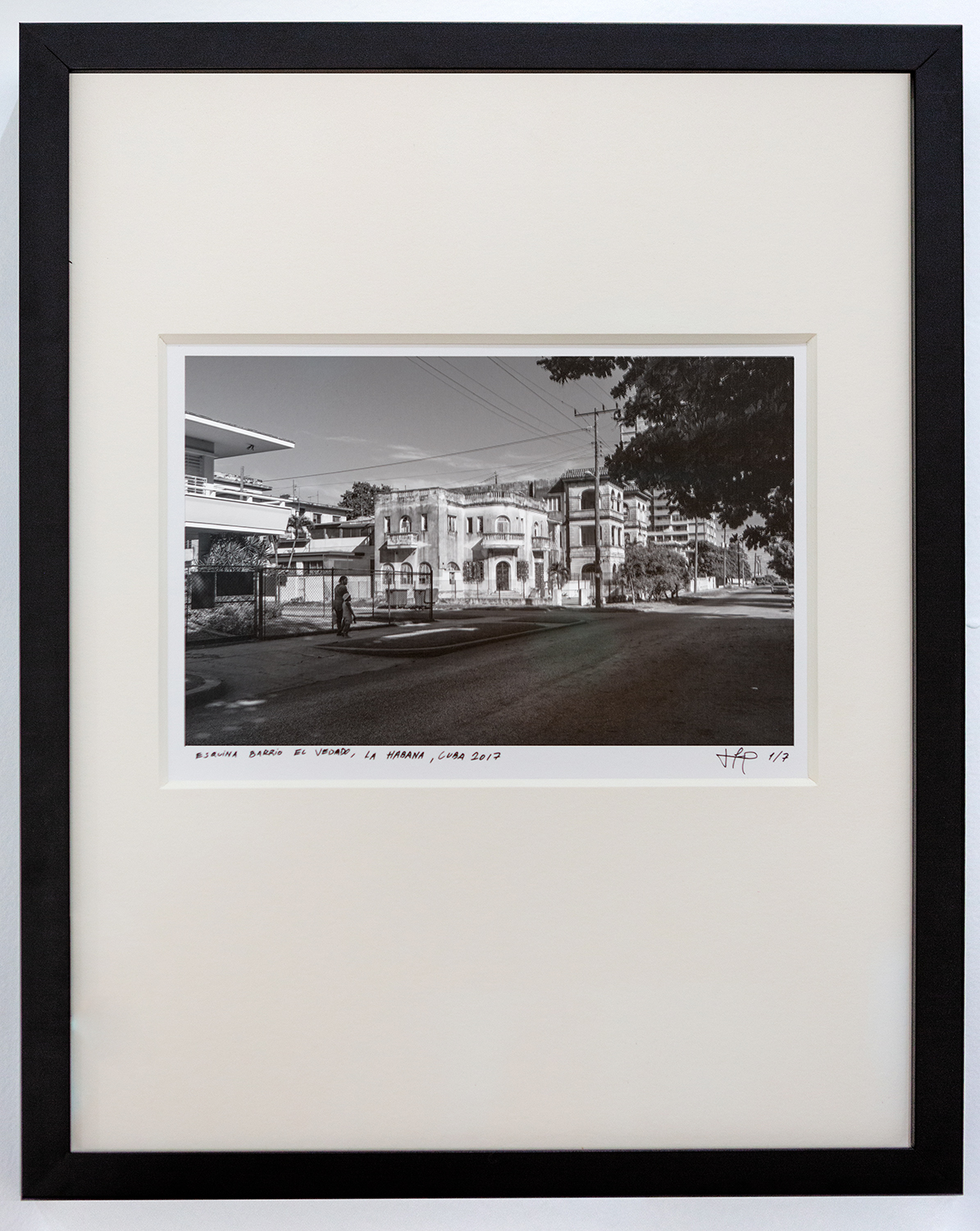 Esquina Vedado,  2017 Archival cotton print with museum glass 13 x 17 inches Edition 1 of 7, 2 AP