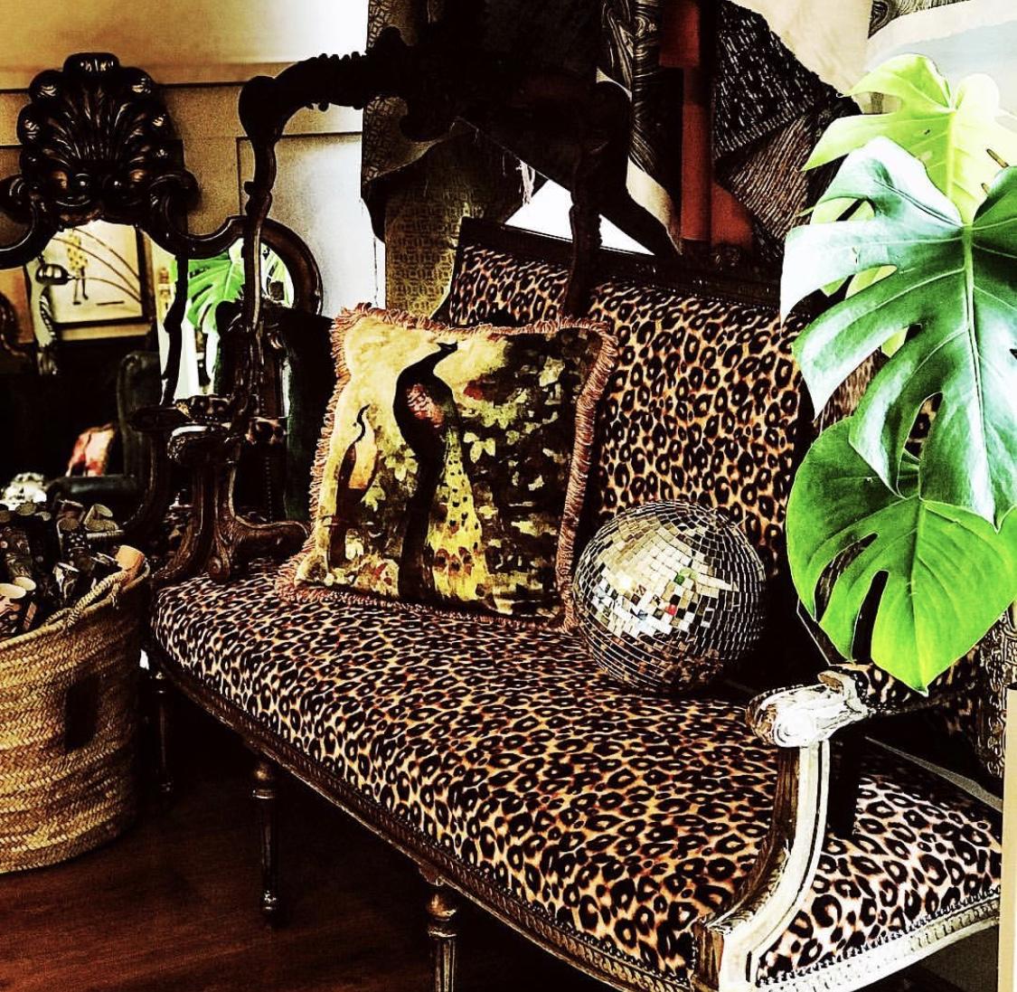 Leopard print sofa of dreams by @roseandleeinteriors