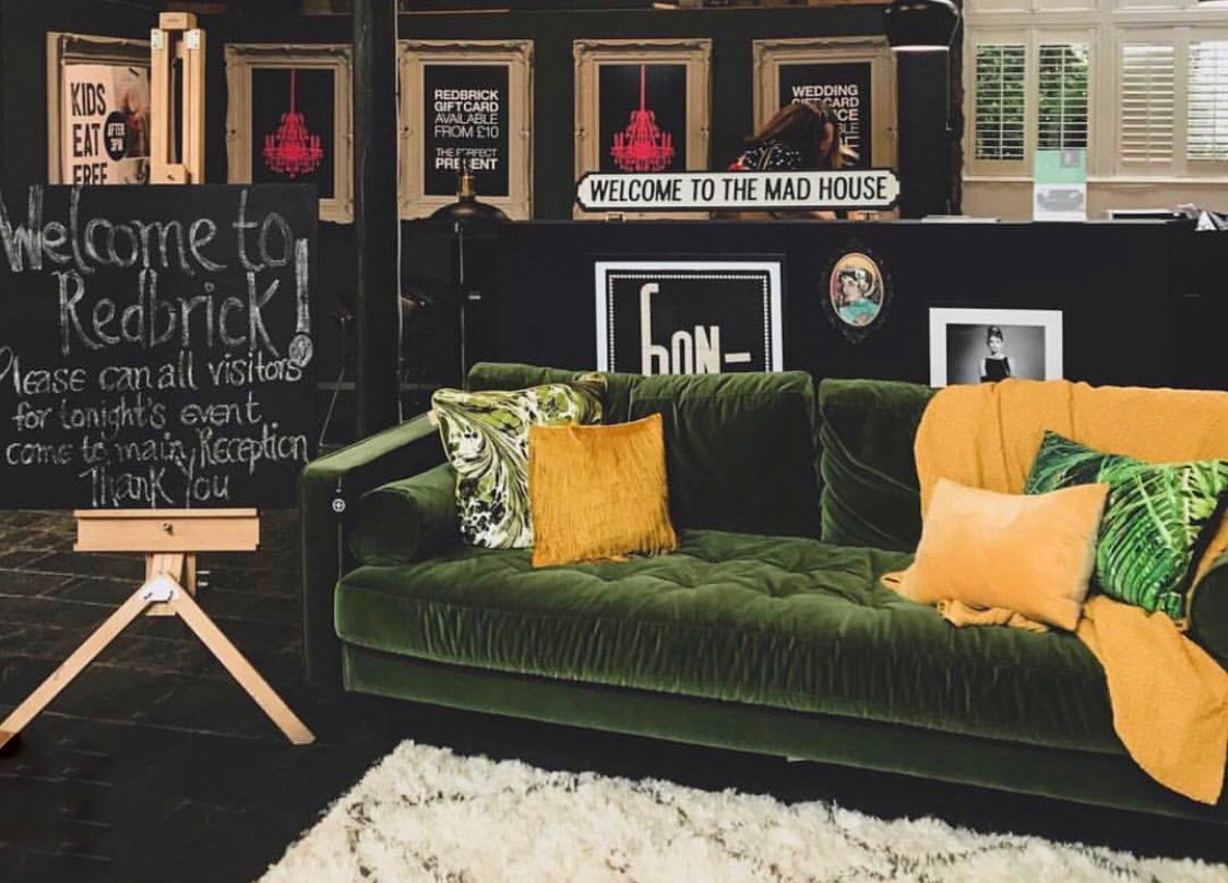 The iconic Scott sofa from @madedotcom greets visitors to RedBrick Mill