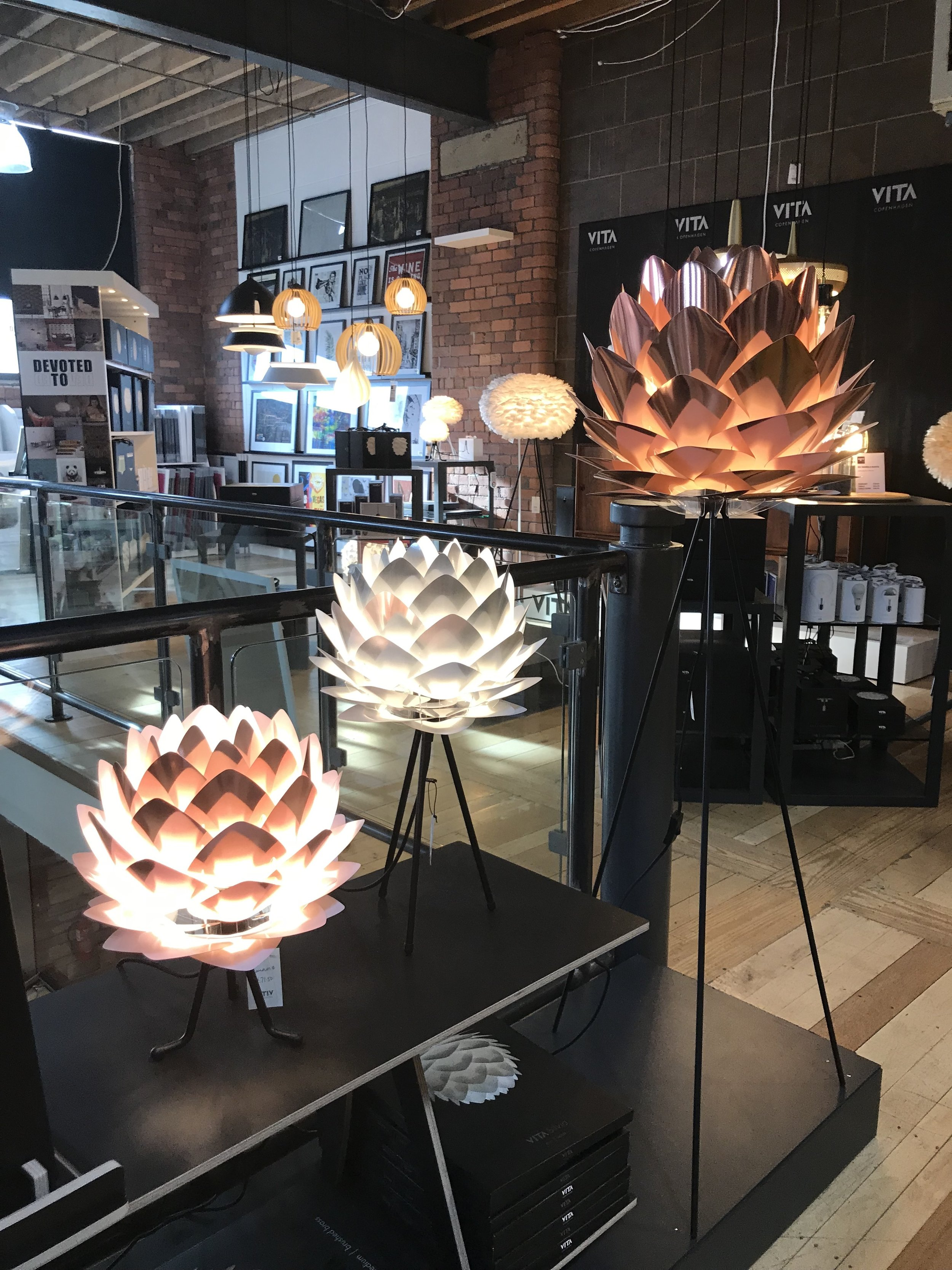 Statement artichoke lighting