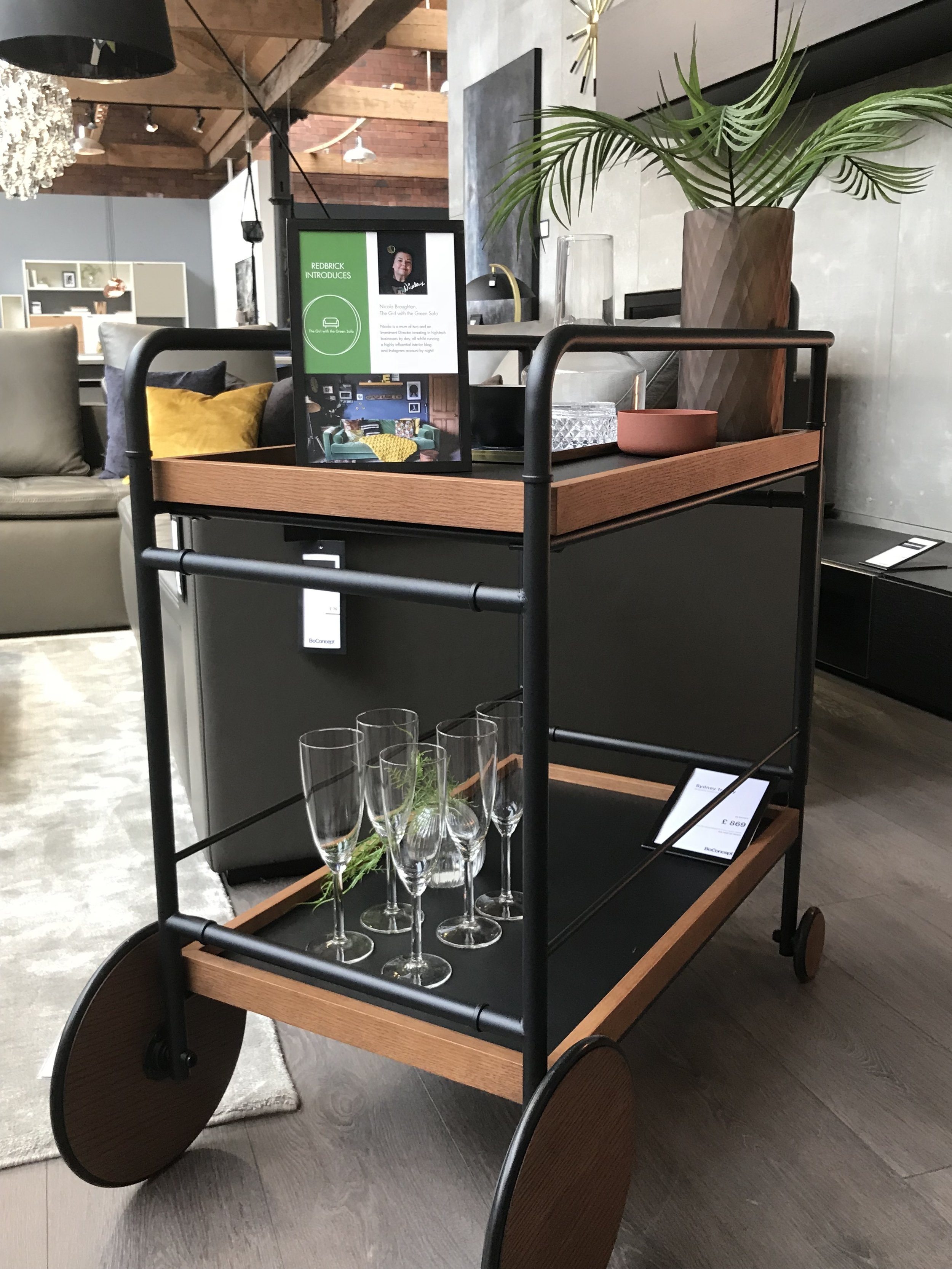 The Sydney bar cart by @boconcept_redbrick