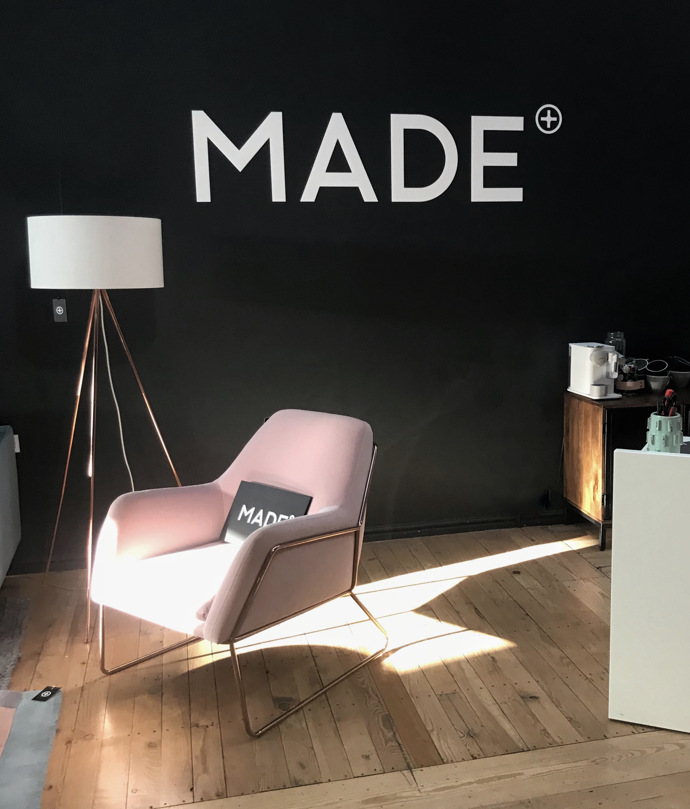 You'll find Made.com on the 3rd floor - they occupy a whole floor showcasing seriously stunning furniture. I absolutely love this FRAME chair in blush cotton with gold frame and the way it stands out against the black wall is totally up my street (you can tell I'm a Northerner with a statement like that!) Its high on my wish list for my new bedroom. Also, I have to say the staff in Made.com are uber stylish and so, so friendly.