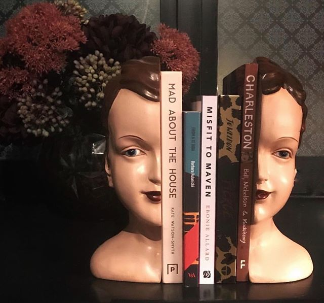 THINGS THAT MAKE ME GO OOW . 🖤Part One 🖤 . These bookends have got to be one of my fav accessories. I'm drawn to things that are bit off whack and I feel these tick that box . So have you read any good books lately? (Sounds a bit like a chat up line 🤣) .  My holiday reading was a bit eclectic.... . 🖤 From A to BIBA - the autobiography of Barbara Hulkanicki (Really enjoyed it & would have loved to be part of that exciting era in London. I was surprised that it was quite a sad story but real life can be) . 🖤 Never Greener by Ruth Jones (If you love Gavin & Stacey and Stella you will definitely love this) . 🖤 Marked for Dead by Tony Kent (I don't know why but I do enjoy extremely gory plots about psychopaths and this did not disappoint) . Hit me up with your recommendations cos these girls need to earn their keep . . #interiorstyling #postitfortheaesthetic #cornerofmyhome #myquirkyhome #bookstagram #styleitdark #findyourtribe #contentcreator #rockettstgeorge #makeyourhomeunique #makeeverythingbeautiful #iloverockettstgeorge #myeclecticmix #myeclecticstyle #livefabulousandfearless #brazen #beboldorgohome #mygorgeousgaff #artdecohead #vignette #finditstyleit #topstylefiles #interioraddict