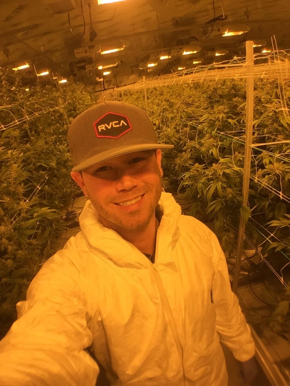 Boomer in commercial growroom.JPG