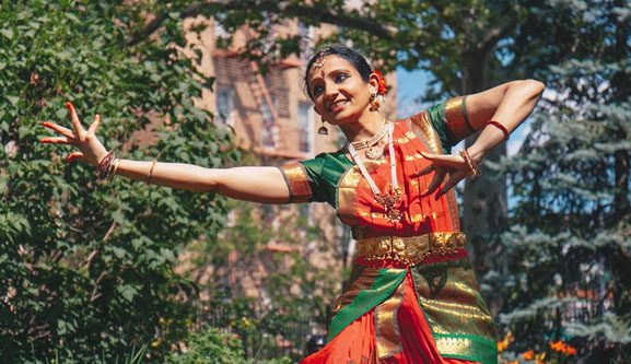 Sloka Iyengar   contact:  slokaiyengar2014@gmail.com   Sloka Iyengar, PhD, PMP studied Bharatanatyam and Indian folk dance at the Darpana Academy of Performing Arts in Ahmedabad, India, and performs in and around the NYC area. She studies Carnatic music; and as a neuroscientist, is always eager to combine dance with science.   Instagram   http://www.slokaiyengar.com/