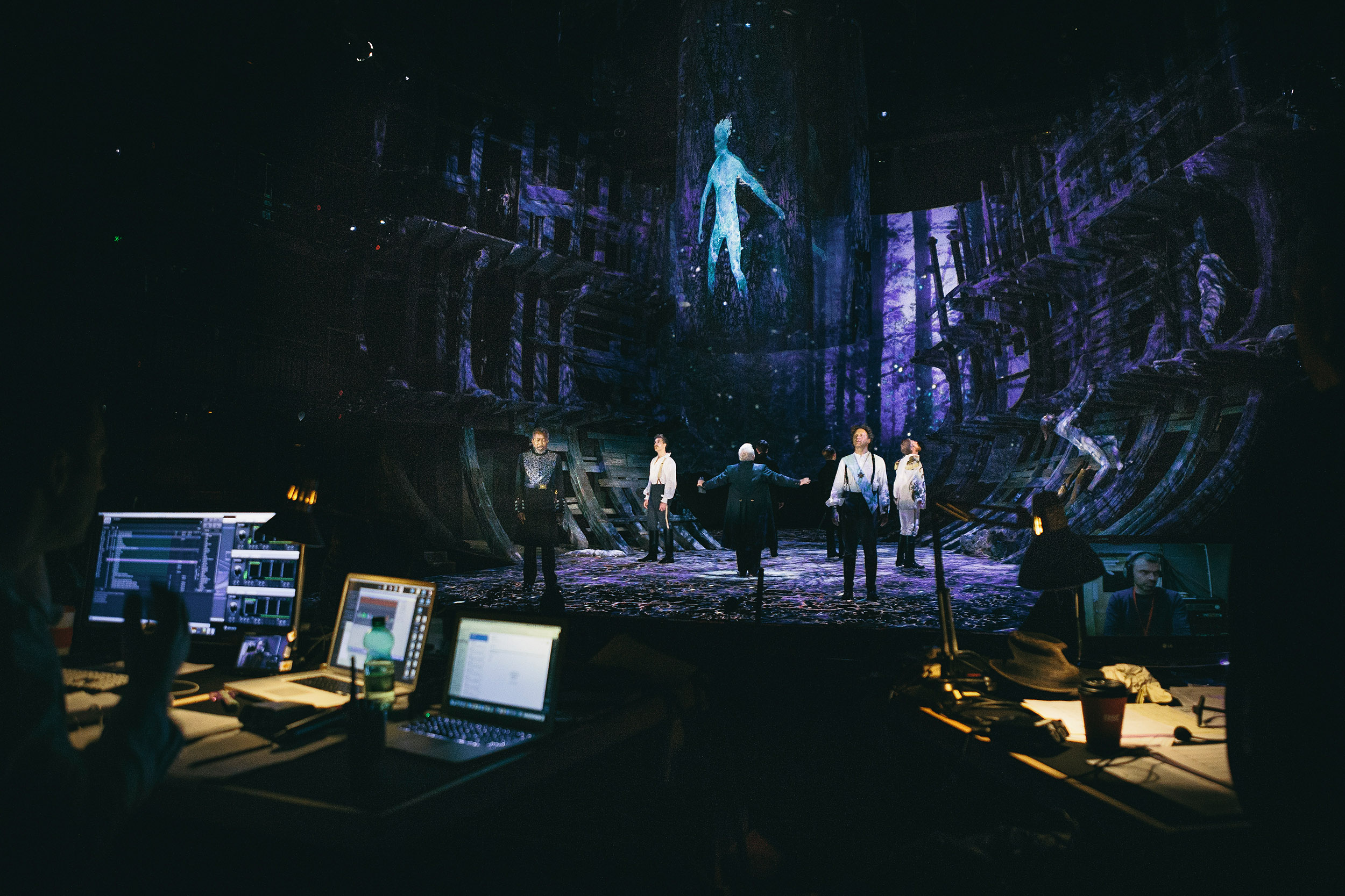 Scenic design that makes smart use of video projections gives the show a seamless cinematic flow