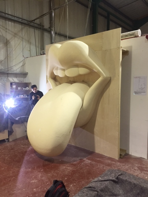 Tongue  and Lips during ware house testing before painting