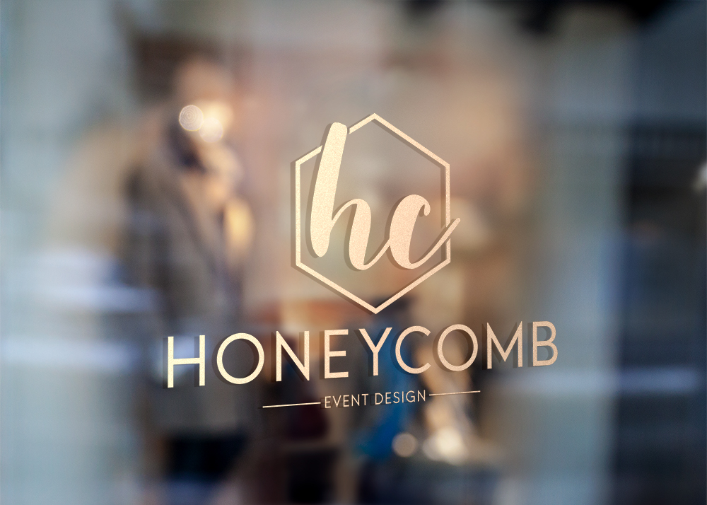 Brand Identity Honeycomb Event Design Storefront Anchor Point Design