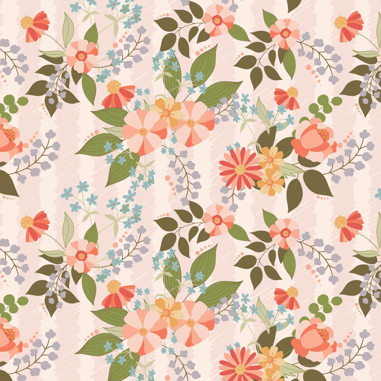 Meadow Lark - Wallpaper Floral