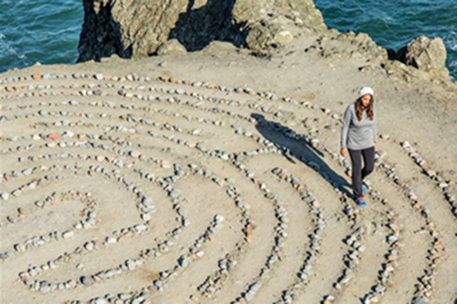 Lands End Labyrinth - At the end of a promontory overlooking the Pacific and the Golden Gate Bridge lies a monument to peace, love, and enlightenment. This winding path of rocks was originally set in sand by artist Eduardo Aguilera in 2004, but has become a community creation. Locals love the zen quality of a quiet stroll through the maze.