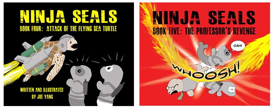 NINJA SEALSBook 4: Attack of the Flying Sea TurtleBook 5: The Professor's Revenge - Alx (pronounced