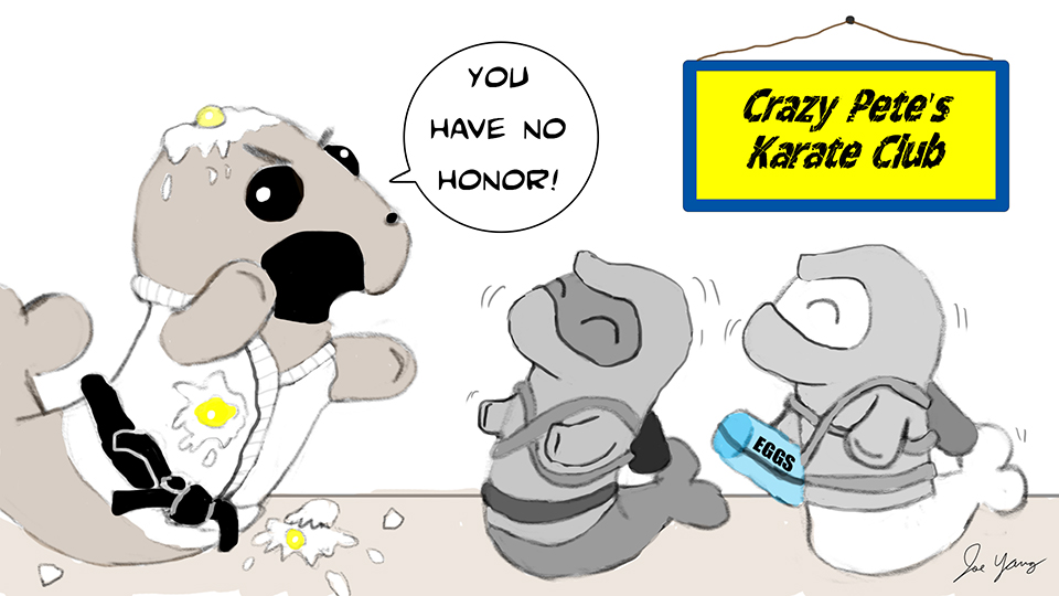 Random sketch: The Ninja Seals often draw this accusation...