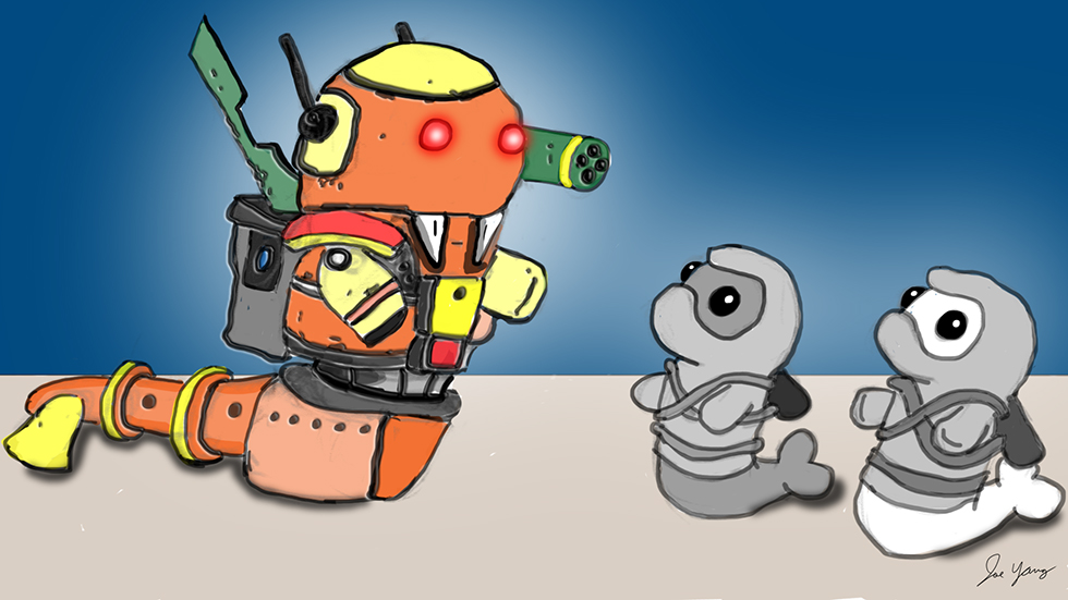 The Ninja Seals encounter a mech walrus!