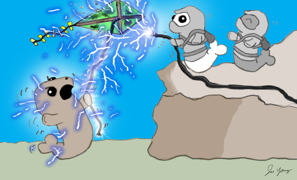 The Ninja Seals have fun with electricity
