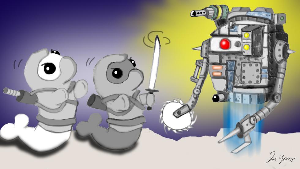 The Ninja Seals encounter a weird alien probe droid!
