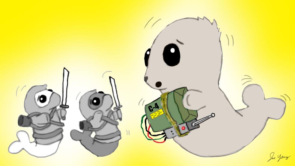 The Ninja Seals work hard to avoid a misunderstanding