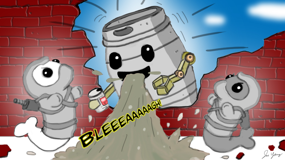 The Ninja Seals meet the infamous beer bot who may (or may not) be malfunctioning