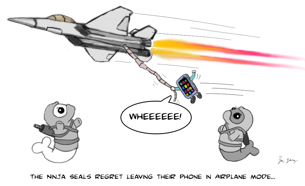 Ninja Seals regret leaving their phone in airplane mode