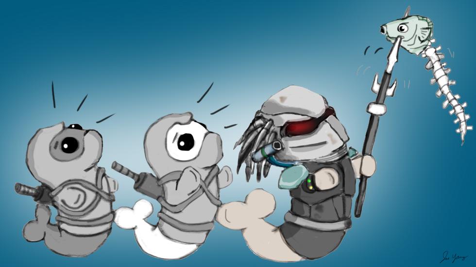 Ninja Seals are skeptical of Predator Seal's fishing habits