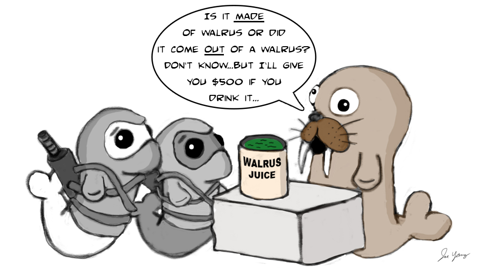 Ninja Seals meet a really weird walrus