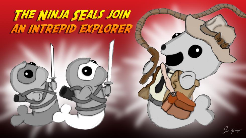 The Ninja Seals join an intrepid explorer!