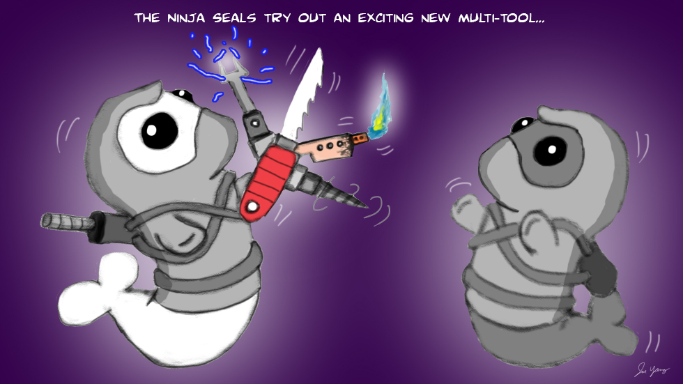 The Ninja Seals try out an exciting new multi-tool