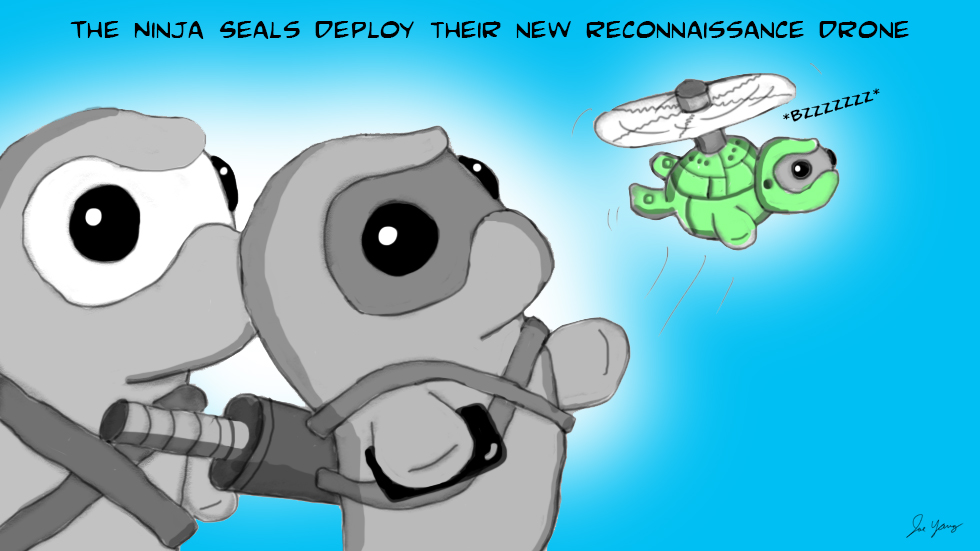 The Ninja Seals deploy their new reconnaissance drone