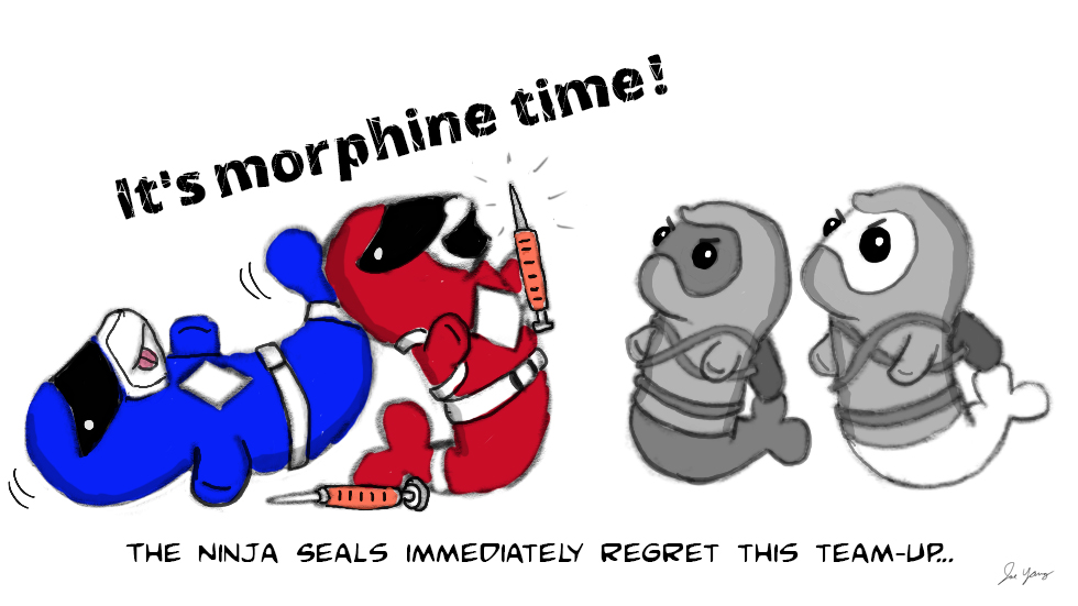 The Ninja Seals immediately regret this team-up...